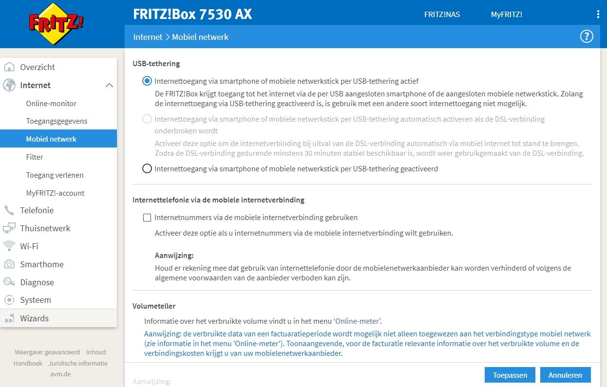fritzbox 7530 ax