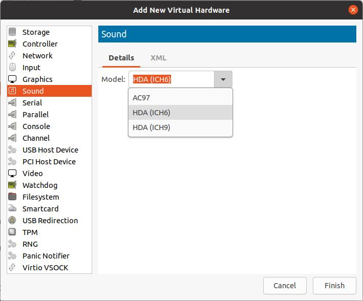 virt-manager hardware toevoegen virtualisatie