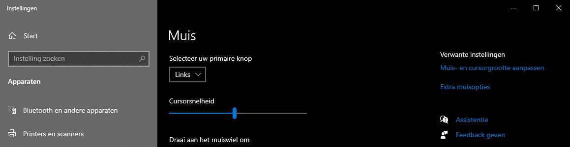 Muis gevoeligheid in Windows aanpassen snelheid muisaanwijzer