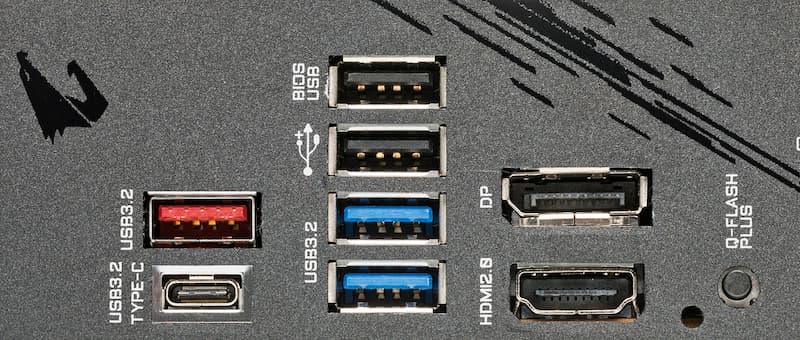 chipset voor Intel Core i-11000 en usb aansluitingen op moederbord