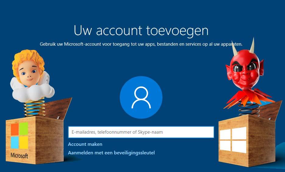 Microsoftaccount voordelen aanmelden