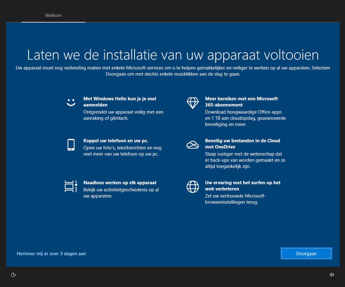 Microsoftaccount geen nee