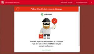 AdGuard malware protection